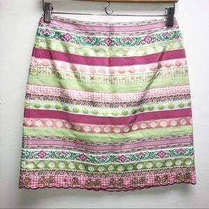 Lilly Pulitzer 2 Ribbon Colorful Skirt